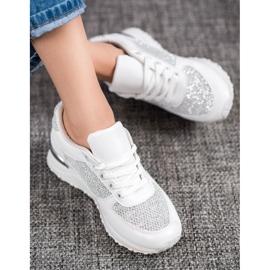 SHELOVET Stylowe Białe Buty Sportowe 2