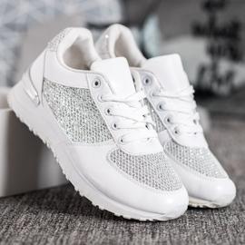 SHELOVET Stylowe Białe Buty Sportowe 3
