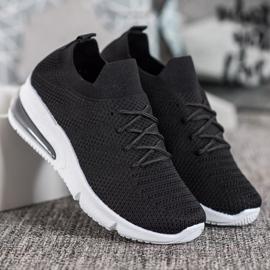 SHELOVET Tekstylne Czarne Sneakersy 3