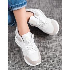 Weide Sneakersy Na Koturnie Fashion białe szare 2