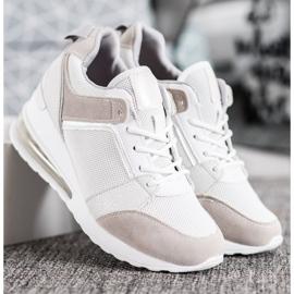 Weide Sneakersy Na Koturnie Fashion białe szare 5