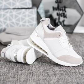 Weide Sneakersy Na Koturnie Fashion białe szare 4