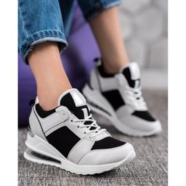 Weide Sneakersy Na Koturnie Fashion białe czarne 5