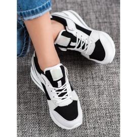 Weide Sneakersy Na Koturnie Fashion białe czarne 1