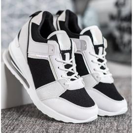 Weide Sneakersy Na Koturnie Fashion białe czarne 2