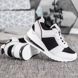 Weide Sneakersy Na Koturnie Fashion białe czarne 3