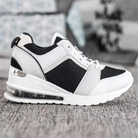 Weide Sneakersy Na Koturnie Fashion białe czarne 4