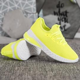 SHELOVET Tekstylne Sneakersy żółte 3
