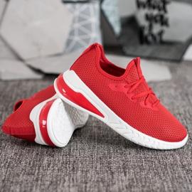 SHELOVET Tekstylne Sneakersy czerwone 3