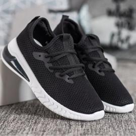 SHELOVET Tekstylne Sneakersy czarne 5