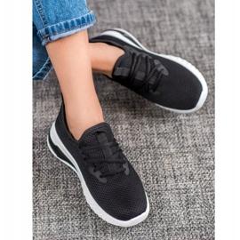 SHELOVET Tekstylne Sneakersy czarne 2
