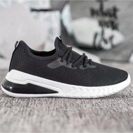 SHELOVET Tekstylne Sneakersy czarne 3