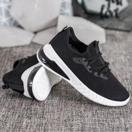 SHELOVET Tekstylne Sneakersy czarne 4
