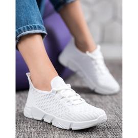 SUPER COOL Białe Sneakersy Tekstylne 4