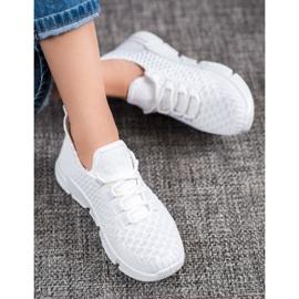 SUPER COOL Białe Sneakersy Tekstylne 1