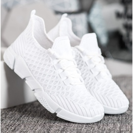 SUPER COOL Białe Sneakersy Tekstylne 3