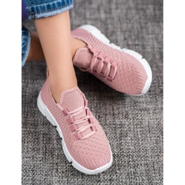 SUPER COOL Różowe Sneakersy Tekstylne 1