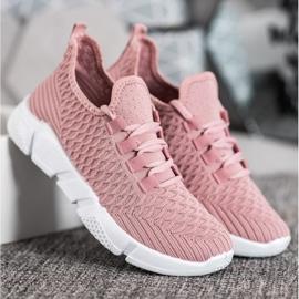 SUPER COOL Różowe Sneakersy Tekstylne 2