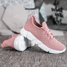 SUPER COOL Różowe Sneakersy Tekstylne 3