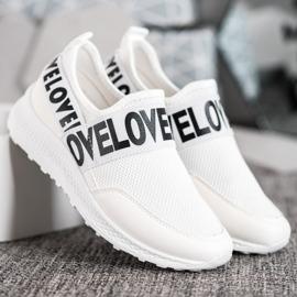 Weide Białe Slipony Love 2