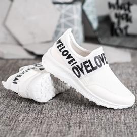 Weide Białe Slipony Love 3