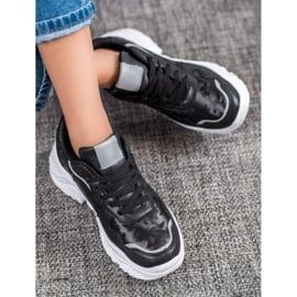 SHELOVET Lekkie Sneakersy czarne 1