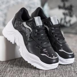 SHELOVET Lekkie Sneakersy czarne 2