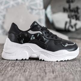 SHELOVET Lekkie Sneakersy czarne 4