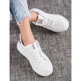 Renda Sneakersy Ze Srebrnymi Wstawkami białe 1