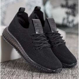 SHELOVET Sneakersy Z Transparentną Podeszwą czarne 3