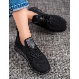 SHELOVET Sneakersy Z Transparentną Podeszwą czarne 1