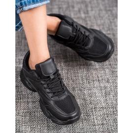 SHELOVET Lekkie Czarne Sneakersy 1