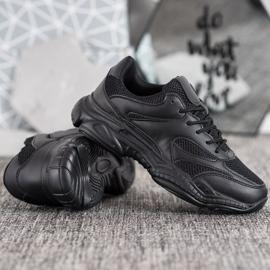 SHELOVET Lekkie Czarne Sneakersy 2