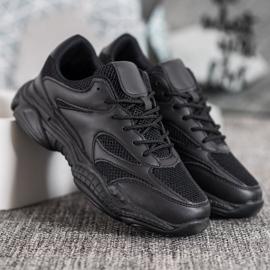 SHELOVET Lekkie Czarne Sneakersy 3