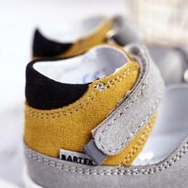 Bartek S.A. Dziecięce Sandałki Profilaktyczne Mini First Steps Bartek W-71266 szare żółte 4