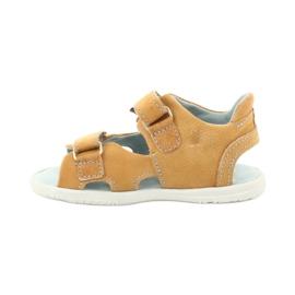 Sandałki na rzepy Mazurek 314 camel wielokolorowe żółte 1