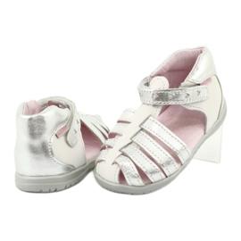 Sandałki skórzane Mazurek 245 białe szare 3