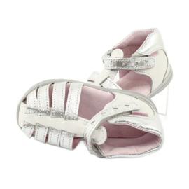 Sandałki skórzane Mazurek 245 białe szare 4
