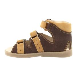 Sandałki wysokie profilaktyczne Mazurek 291 brązowe żółte 1