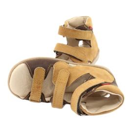 Sandałki wysokie profilaktyczne Mazurek 291 brązowe żółte 4