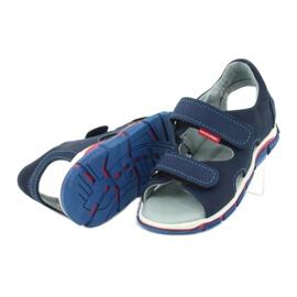 Sandałki na rzepy Mazurek 314 granatowe 4