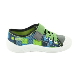 Befado obuwie dziecięce 251Y148 szare wielokolorowe zielone 2