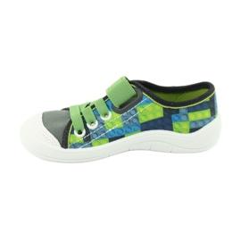 Befado obuwie dziecięce 251Y148 szare wielokolorowe zielone 3