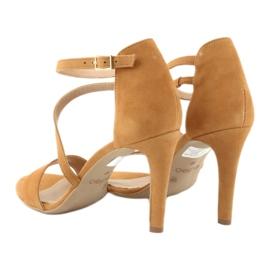 Rude Sandały skórzane na szpilce Edeo 3344 5