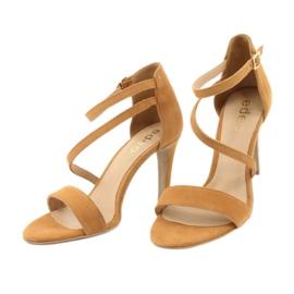 Rude Sandały skórzane na szpilce Edeo 3344 3