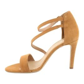 Rude Sandały skórzane na szpilce Edeo 3344 2