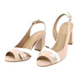Sandały damskie na obcasie Edeo 3505-821/1168/344 3