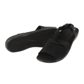 Czarne sandały damskie Adanex 17498 3