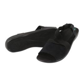 Wygodne czarne sandały damskie Adanex 17498 2