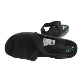 Wygodne czarne sandały damskie Adanex 17498 3